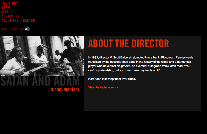 Film Editor, Site was for his film