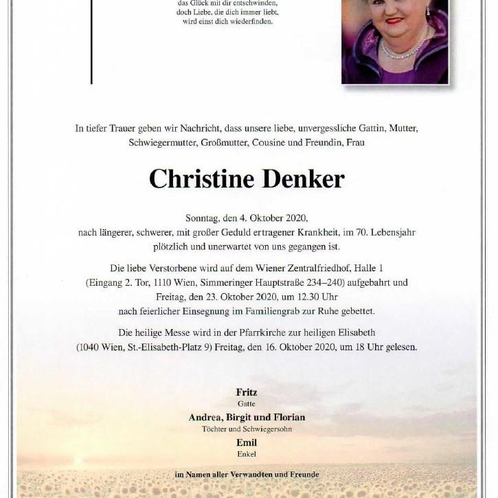 AGÖ-Büroleiterin Christine Denker verstorben