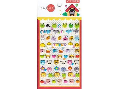 Stickers tête d'animaux