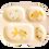 Thumbnail: MÉLAMINE ASSIETTE ENFANT 4 COMPARTIMENTS - ROSE CLAIR - GOLDFISH PRINT
