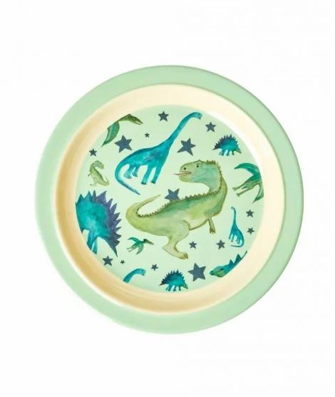 Assiette enfants en mélamine dinosures