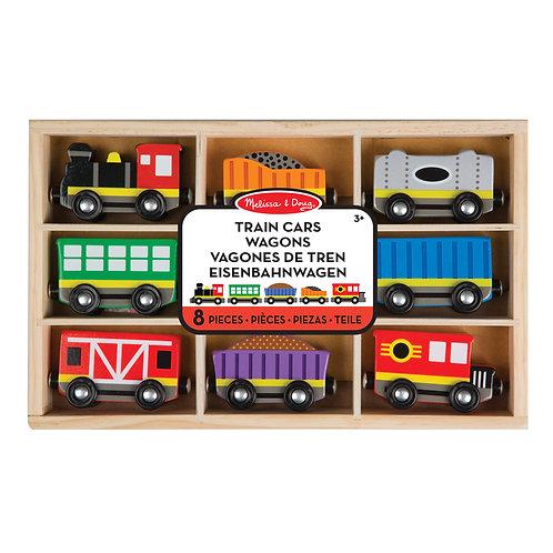 Voiture de train en bois