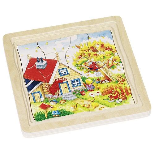 Puzzle à couches, les saisons