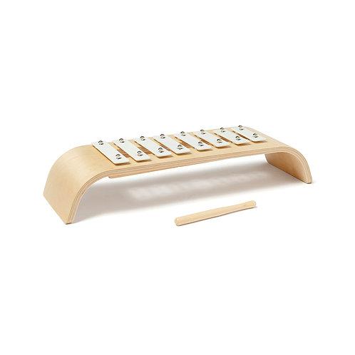 Xylophone blanc en bois