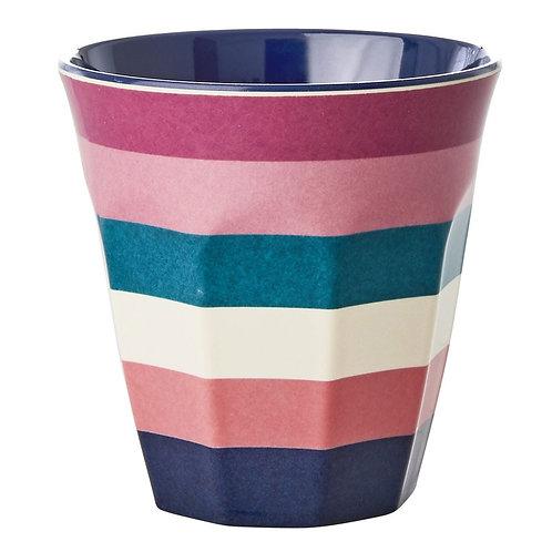 Gobelet medium en mélamine, stripe