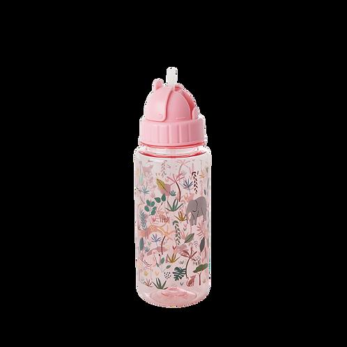 PLASTIQUE BOUTEILLE - ROSE - JUNGLE PRINT