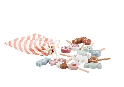 Set de bonbons en bois
