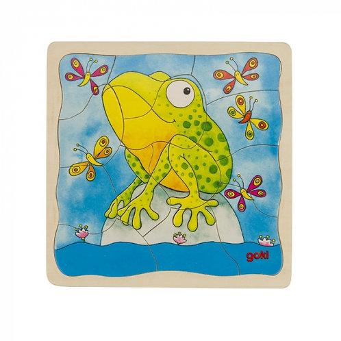 Puzzle à couches, la grenouille
