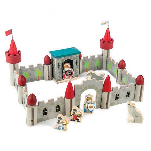 Chateau de loup en bois, 40 pièces
