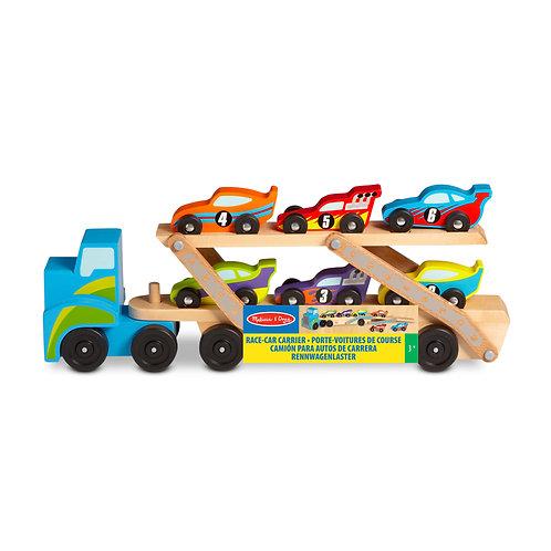Camion géant, porte 6 voitures de course