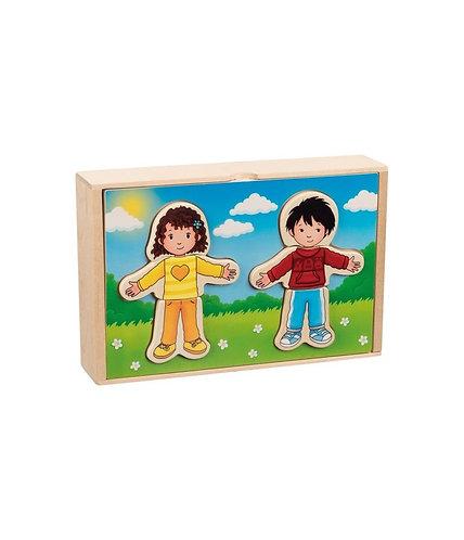 Puzzle à habiller, garçon et fille