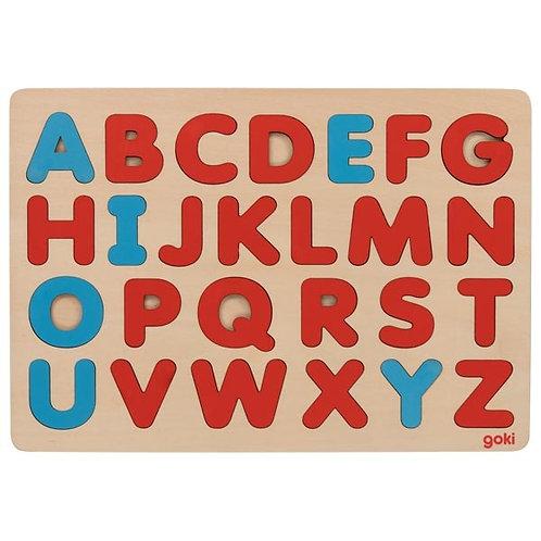 Puzzle d'encastrement Alphabet Montessori