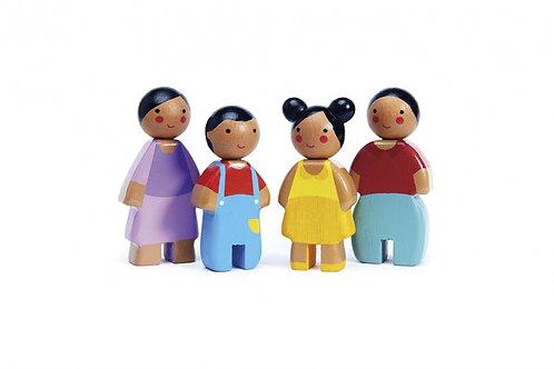 Famille de poupées sunny en bois