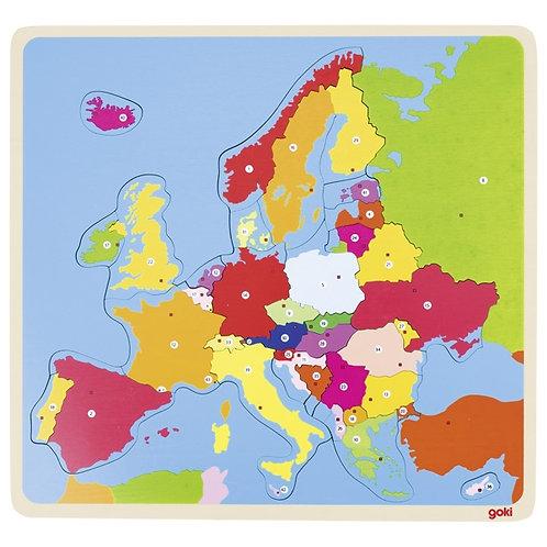 Puzzle bois Europe