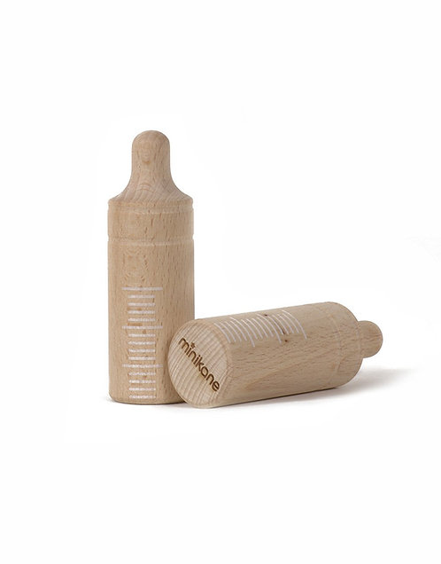 Biberon en bois pour poupée Minikane