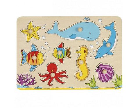 Puzzle à boutons animaux de la mer