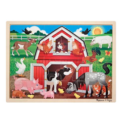 Puzzle bois la ferme