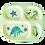 Thumbnail: Assiette enfants 4 compartiments en mélamine dinosaures