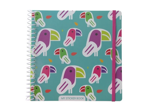 Stickers book toucan