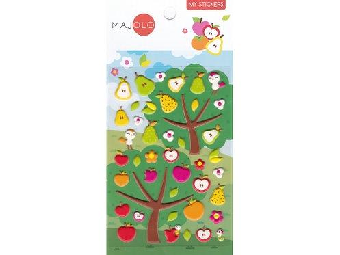 Stickers pommes et poires