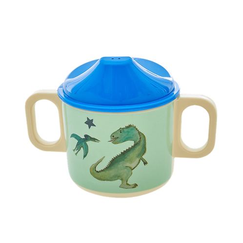 Gobelet bébé en mélamine vert dinosaure
