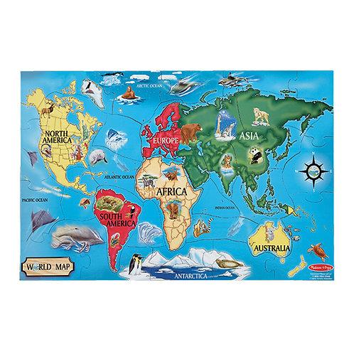 Puzzle de Sol Carte Du Monde