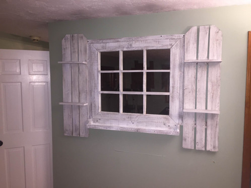 beautifully rustic window frame mirrors that are wall mounted come in distressed white unless special color requested basic 6 pane approx - Distressed Window Frame