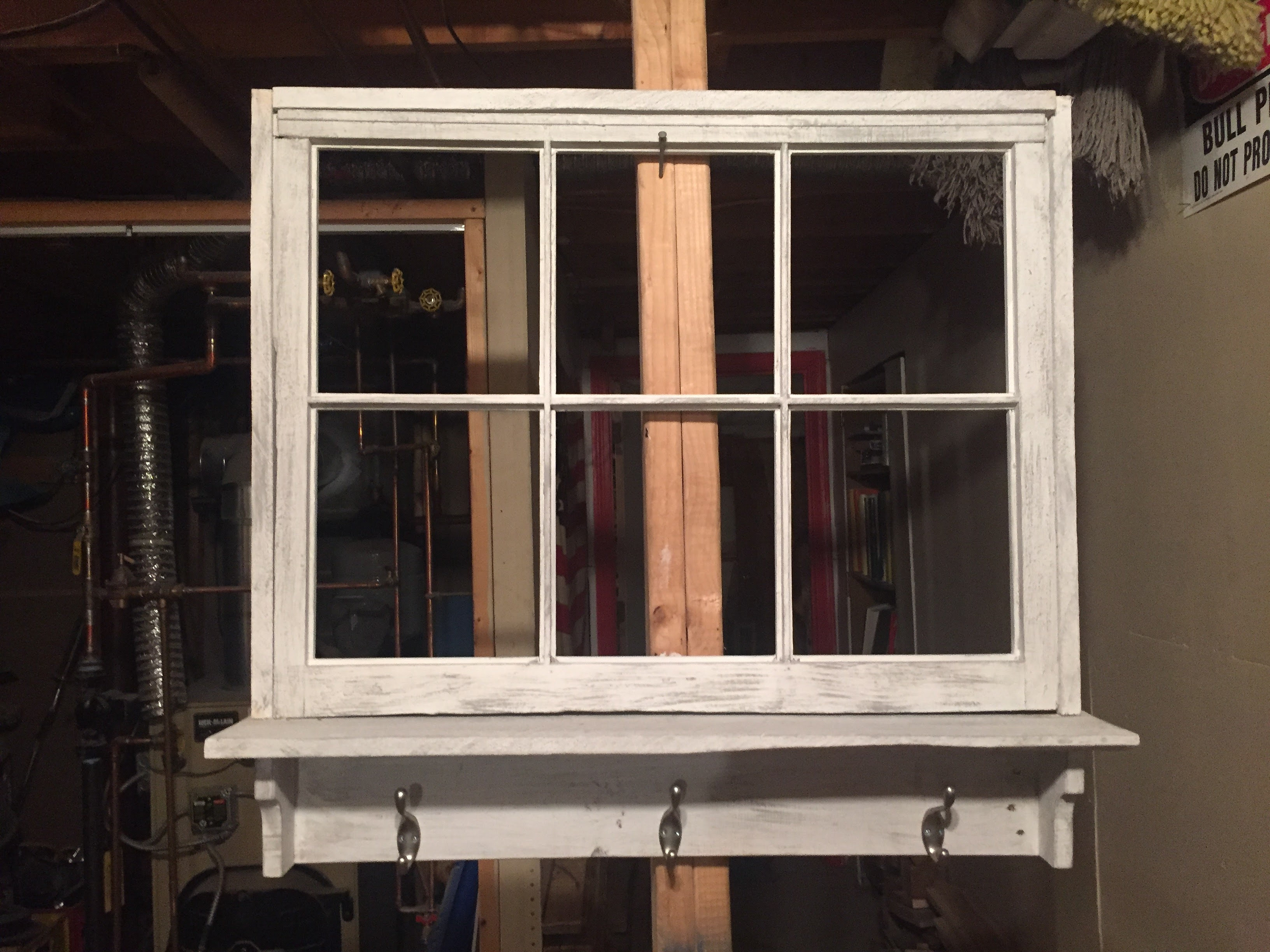 regionallyrustic window frame picture pic 1 window frame picture with 3 hooks come standard in distressed - Distressed Window Frame