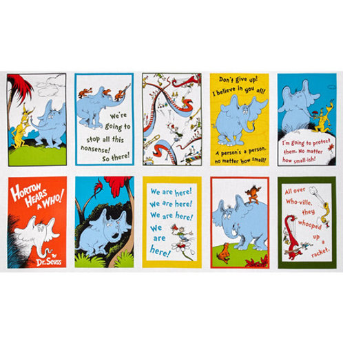 Dr Seuss ~Horton Hears a Who fabric panel