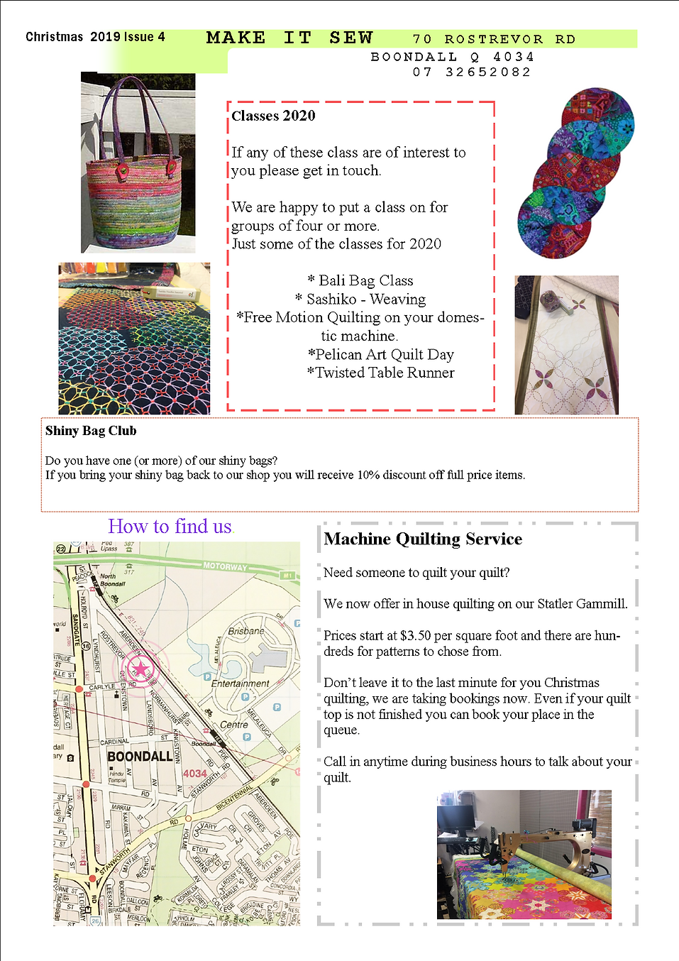 newsletter Christmas 2019 Issue 4 page 2