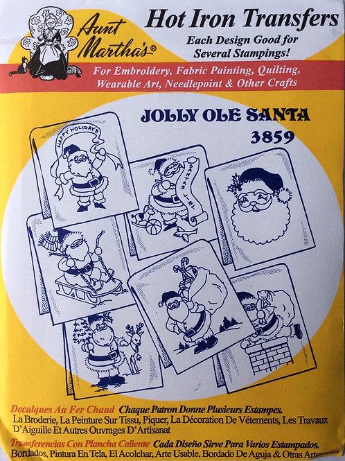 Jolly Ole Santa 3859 Hot Iron Transfers