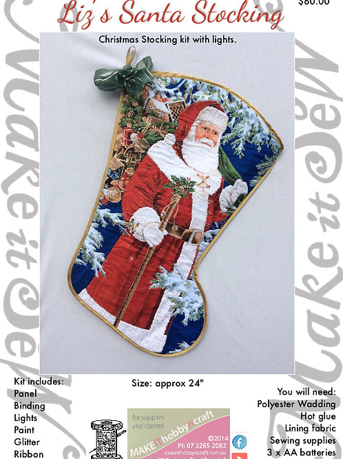 Christmas Stocking Kit.Liz S Santa Stocking Kit Make New