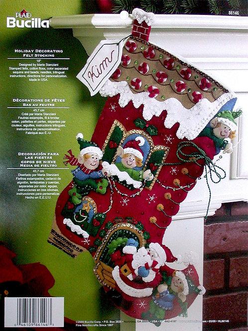 Bucilla Felt Stocking Kit - Holiday Decorating