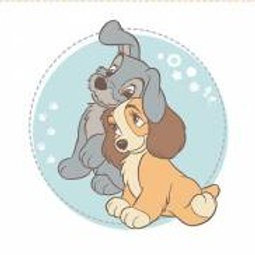 Lady and the Tramp - cushion panel