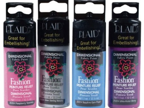 Plaid Dimensional Fabric Paint