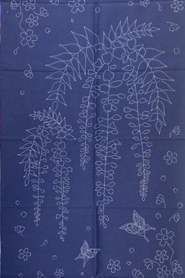 Wisteria Sashiko Panel