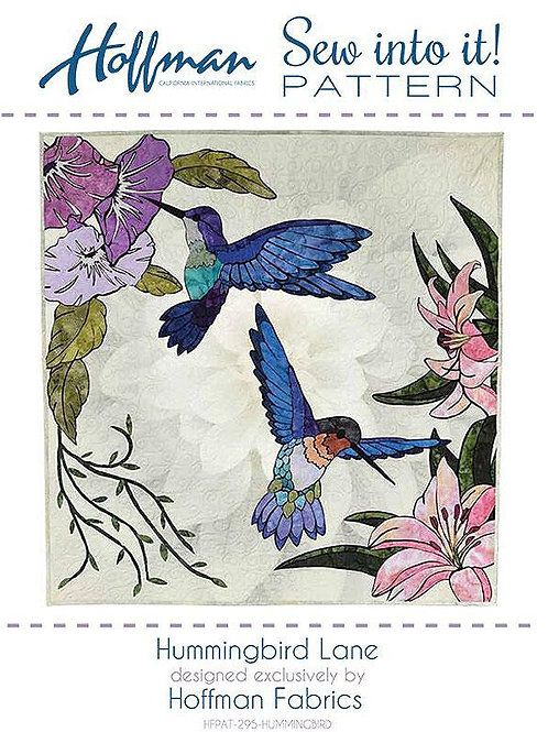 Hummingbird Lane - applique pattern
