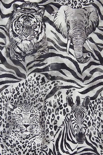Wild Side Zebra - grey