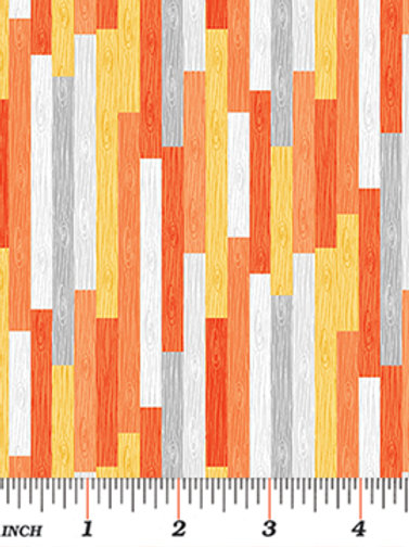 Rusty the Fox wood stripe orange and yellow