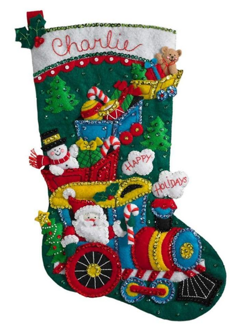 Bucilla Felt Stocking Kit - Choo Choo Santa