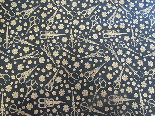 Antique Sewing Fabric - Black