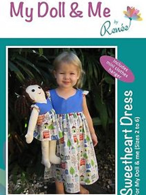My Doll and Me - Sweetheart Dress Pattern