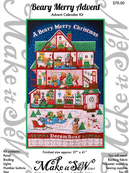 A Beary Merry Christmas Advent Calendar Kit