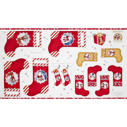 Rudolph 50 Years Christmas Stocking Panel