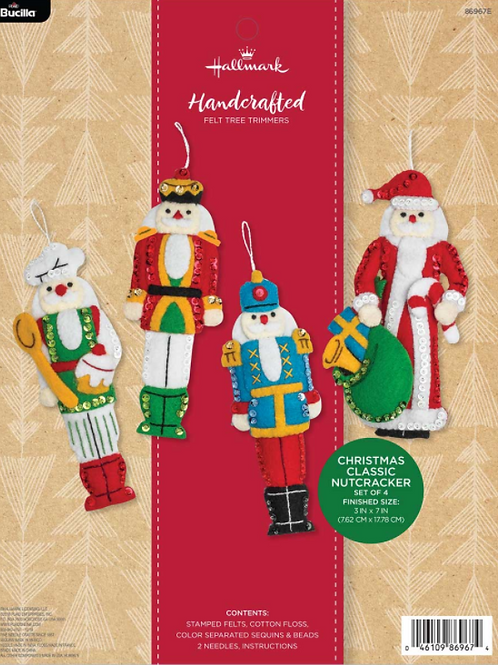 Bucilla Felt Kit - Hallmark Christmas Classic Nutcracker Ornaments