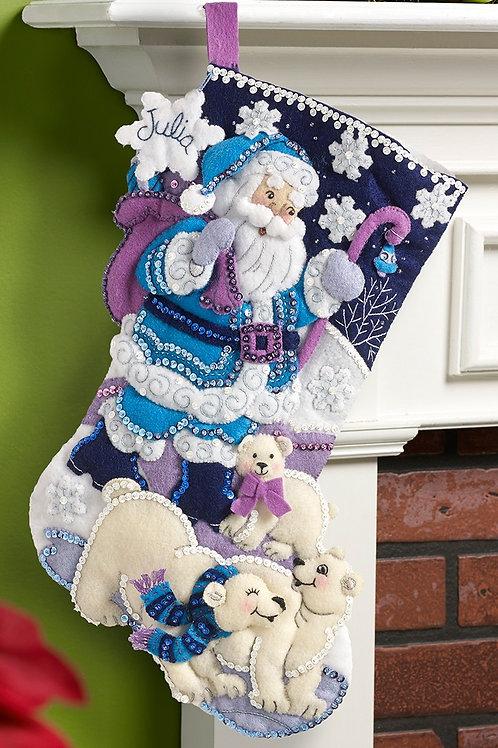 Bucilla Felt Stocking Kit - Arctic Santa