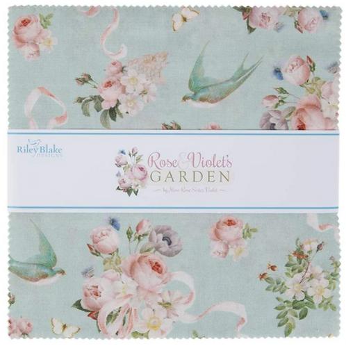 """Rose & Violet's Garden - 10"""" square"""