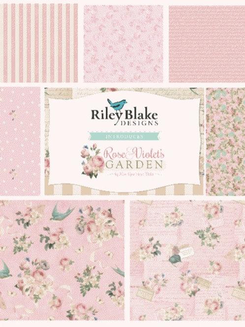 Rose & Violet's Garden Fat Quarter Bundle - Blush