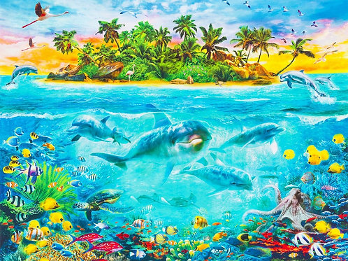 Ocean Fabric Panel