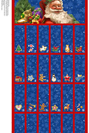 Santa Claus is Coming to Town Advent Calendar Panel
